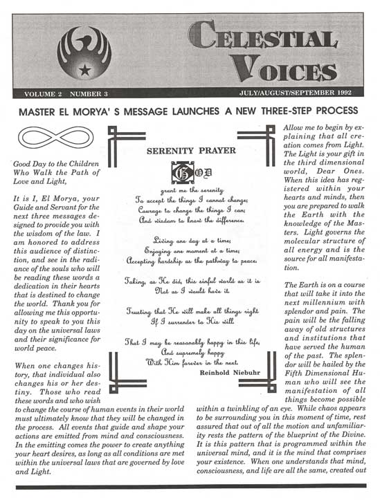 Celestial Voices Newsletters - Complete Set / Binded